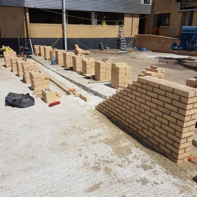 Brickwork in progess - Perivale