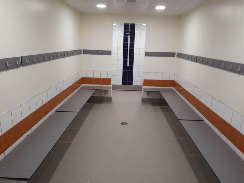 Changing Room refurbishment - Waendel LC, Wellingborough
