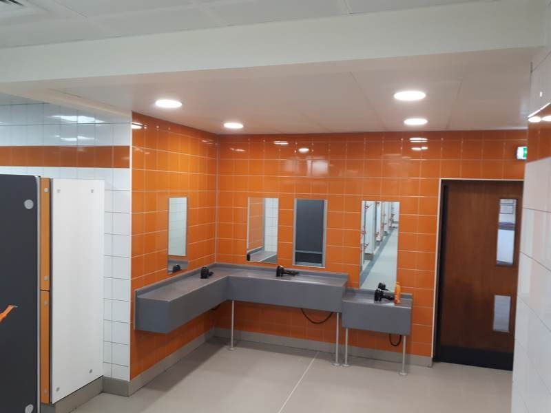 Changing Room refurbishment - Waendel LC, Wellingborough