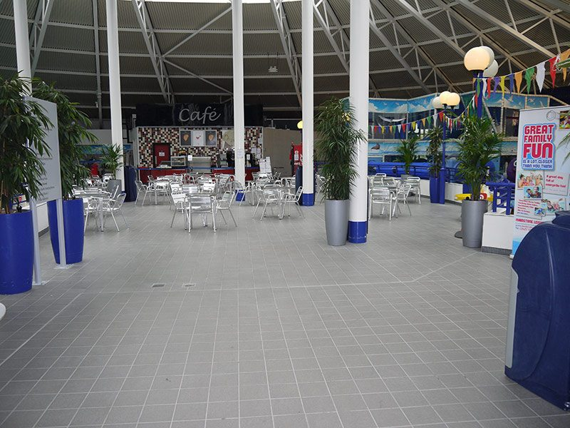 Floor Tiling for Shopping Centre, Hasltead, Essex and Suffolk