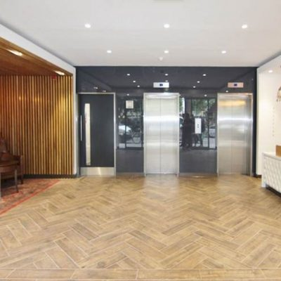 Reception floor tiling - 27 Soho Square