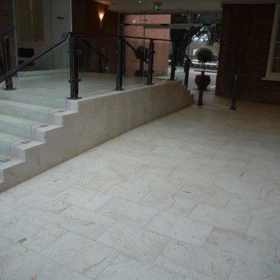 Stone floor tiling