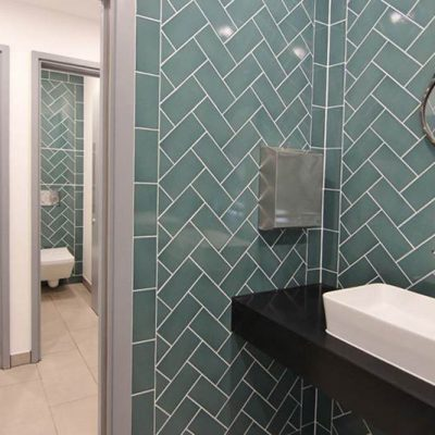 WC wall and floor tiling - 27 Soho Square