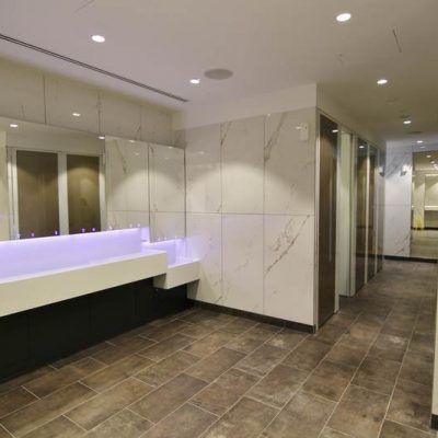 WC wall and floor tiling - Centrale Shopping Centre, Croydon