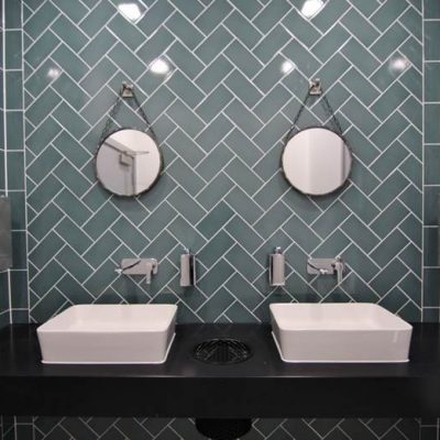 WC wall tiling - 27 Soho Square