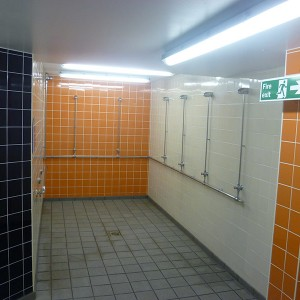 Wet Side Changing Room Wall Refurb